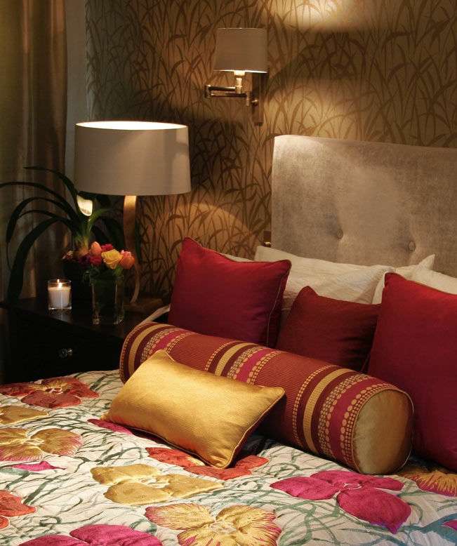 Jewel Toned Bedroom Interior Design Reigate thumbnail
