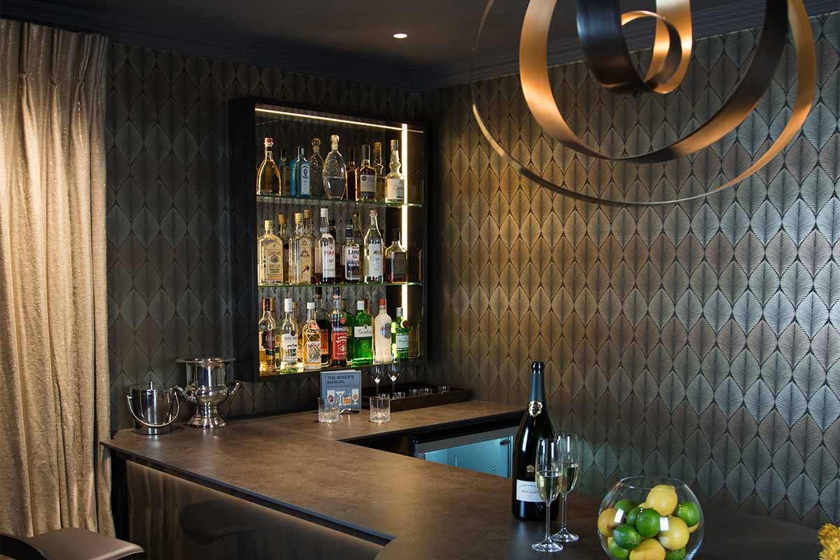Party Room and Bar Oxted Interior Design