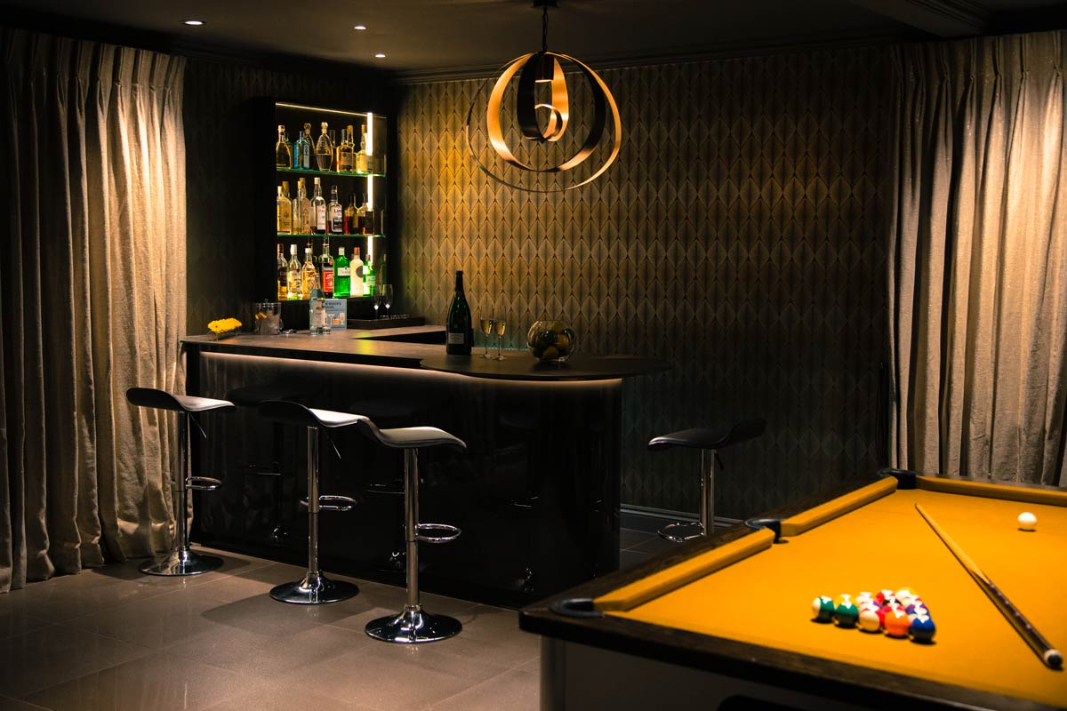 Luxury party room interior design Oxted